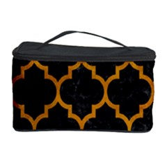 Tile1 Black Marble & Yellow Grunge (r) Cosmetic Storage Case