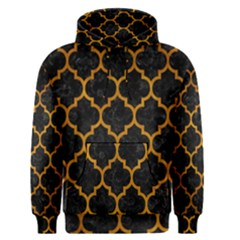 Tile1 Black Marble & Yellow Grunge (r) Men s Pullover Hoodie