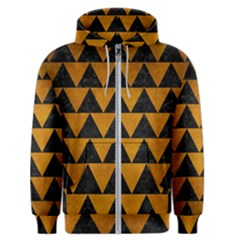Triangle2 Black Marble & Yellow Grunge Men s Zipper Hoodie