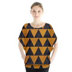 Triangle2 Black Marble & Yellow Grunge Blouse