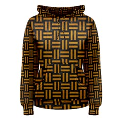 Woven1 Black Marble & Yellow Grunge (r) Women s Pullover Hoodie
