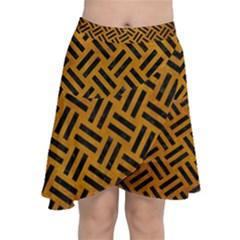 Woven2 Black Marble & Yellow Grunge Chiffon Wrap