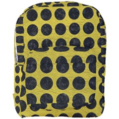 Circles1 Black Marble & Yellow Leather Full Print Backpack