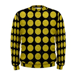 Circles1 Black Marble & Yellow Leather (r) Men s Sweatshirt