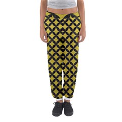 Circles3 Black Marble & Yellow Leather Women s Jogger Sweatpants