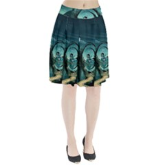 Cute Fairy Dancing On The Moon Pleated Skirt