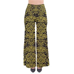 Damask2 Black Marble & Yellow Leather (r) Pants