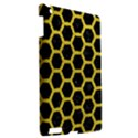 HEXAGON2 BLACK MARBLE & YELLOW LEATHER (R) Apple iPad 3/4 Hardshell Case View2
