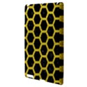 HEXAGON2 BLACK MARBLE & YELLOW LEATHER (R) Apple iPad 3/4 Hardshell Case View3
