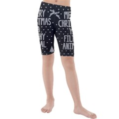 Ugly Christmas Sweater Kids  Mid Length Swim Shorts