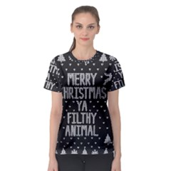 Ugly Christmas Sweater Women s Sport Mesh Tee