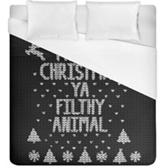 Ugly Christmas Sweater Duvet Cover (king Size)