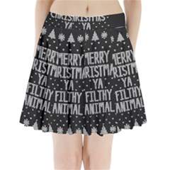 Ugly Christmas Sweater Pleated Mini Skirt