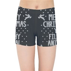 Ugly Christmas Sweater Kids Sports Shorts