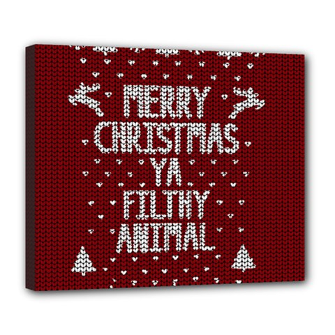 Ugly Christmas Sweater Deluxe Canvas 24  X 20