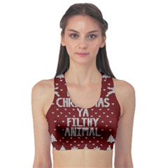 Ugly Christmas Sweater Sports Bra