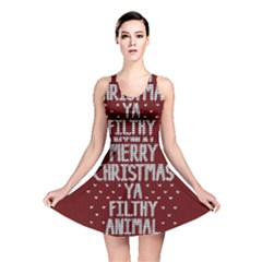Ugly Christmas Sweater Reversible Skater Dress