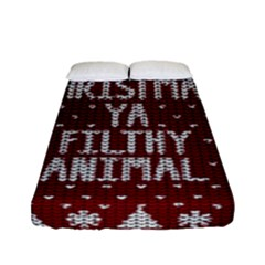Ugly Christmas Sweater Fitted Sheet (full/ Double Size)