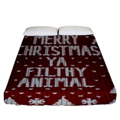 Ugly Christmas Sweater Fitted Sheet (king Size)