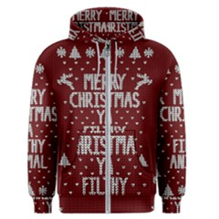 Ugly Christmas Sweater Men s Zipper Hoodie