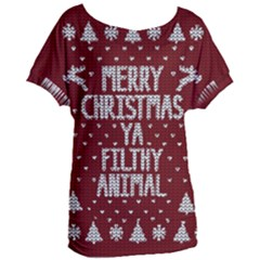 Ugly Christmas Sweater Women s Oversized Tee