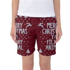 Ugly Christmas Sweater Women s Basketball Shorts