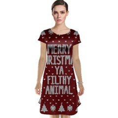Ugly Christmas Sweater Cap Sleeve Nightdress