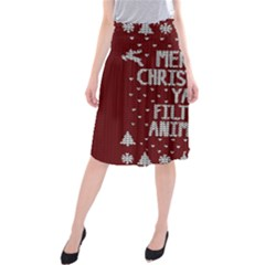 Ugly Christmas Sweater Midi Beach Skirt