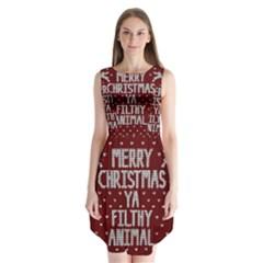 Ugly Christmas Sweater Sleeveless Chiffon Dress