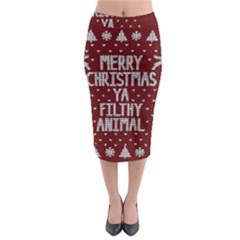 Ugly Christmas Sweater Midi Pencil Skirt