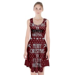 Ugly Christmas Sweater Racerback Midi Dress