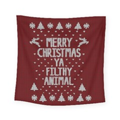 Ugly Christmas Sweater Square Tapestry (small)