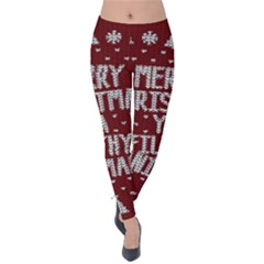 Ugly Christmas Sweater Velvet Leggings