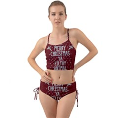 Ugly Christmas Sweater Mini Tank Bikini Set