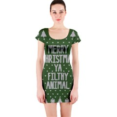 Ugly Christmas Sweater Short Sleeve Bodycon Dress