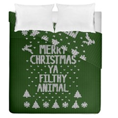 Ugly Christmas Sweater Duvet Cover Double Side (queen Size)