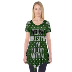 Ugly Christmas Sweater Short Sleeve Tunic