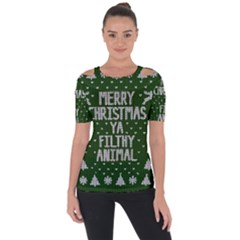 Ugly Christmas Sweater Short Sleeve Top