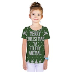 Ugly Christmas Sweater Kids  One Piece Tee