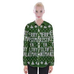 Ugly Christmas Sweater Womens Long Sleeve Shirt
