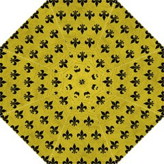 Royal1 Black Marble & Yellow Leather (r) Folding Umbrellas