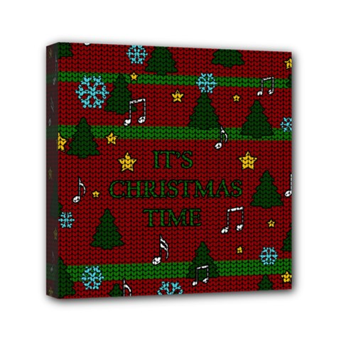 Ugly Christmas Sweater Mini Canvas 6  X 6