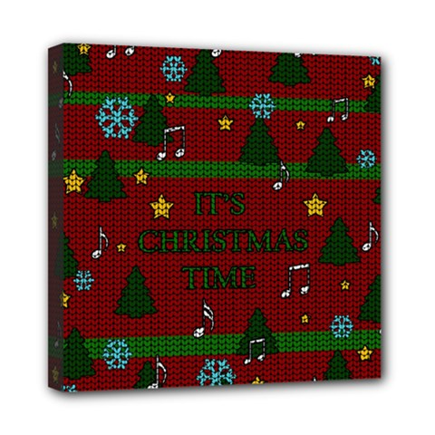 Ugly Christmas Sweater Mini Canvas 8  X 8