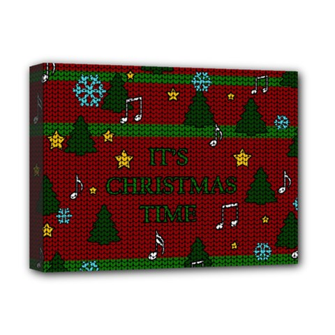 Ugly Christmas Sweater Deluxe Canvas 16  X 12