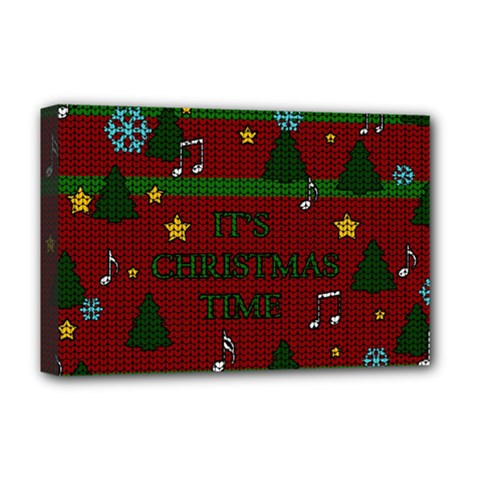 Ugly Christmas Sweater Deluxe Canvas 18  X 12