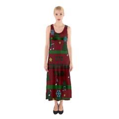 Ugly Christmas Sweater Sleeveless Maxi Dress