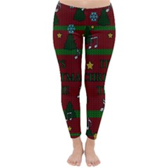 Ugly Christmas Sweater Classic Winter Leggings