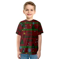 Ugly Christmas Sweater Kids  Sport Mesh Tee