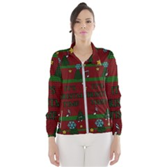 Ugly Christmas Sweater Wind Breaker (women)