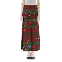 Ugly Christmas Sweater Full Length Maxi Skirt